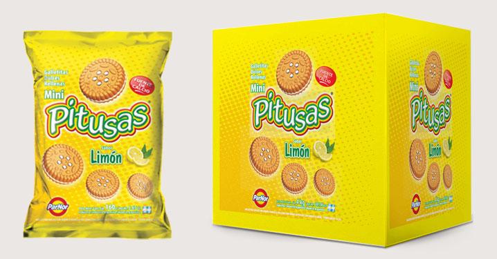 Pitusas rellenas con limon