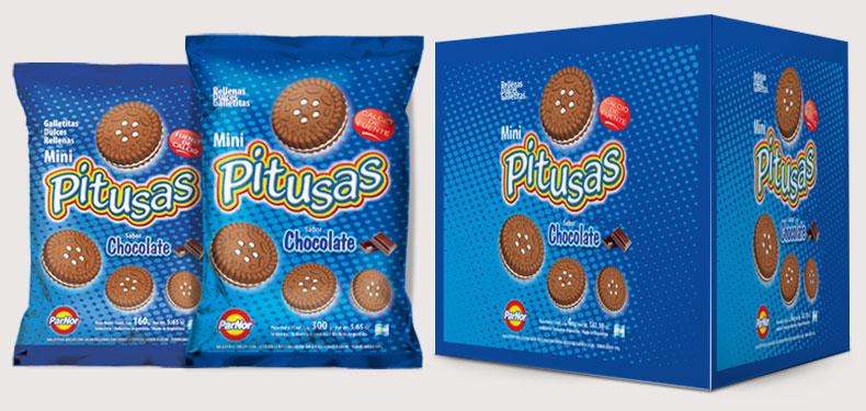 Pitusas rellenas de chocolate